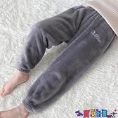 兒童加絨褲 兒童暖暖褲冬季加絨加厚寶寶保暖褲男童居家睡褲外穿女童褲子5歲 寶貝計畫