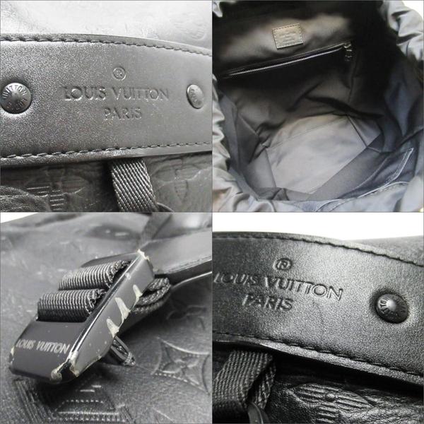路易威登 LOUIS VUITTON Discovery系列黑色Monogram Shadow壓花小牛皮後背包 M43680