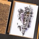 鋼筆彩墨速寫本活頁線圈繪畫本2個