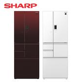 [SHARP 夏普]551公升 六門對開冰箱 SJ-GX55ET-R/W