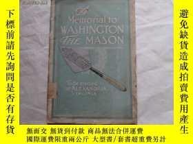 二手書博民逛書店MEMORIAL罕見TO WASHINGTON(內有彩色插圖)Y