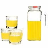 家用玻璃冷水壺套裝 飲料果汁壺涼白開水大容量涼水壺 JA7875『科炫3C』