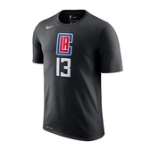 Nike 男 NBA 洛杉磯 快艇隊 Paul George 黑 籃球 短袖 上衣 BQ1538-020
