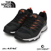 【The North Face 男 DryVent徒步鞋《黑/橘》】4PF7/登山鞋/越野鞋/健行鞋/跑步/路跑/耐磨