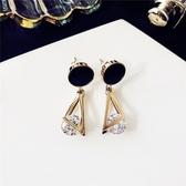 耳環 幾何 雙三角形 鏤空 鑽石 吊墜 耳釘 耳環【DD1803055】 BOBI  10/18