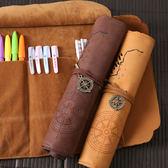 筆袋 文具盒男女韓國簡約多功能大容量卷筆簾初中學生小學生創意鉛筆袋 蒂小屋服飾