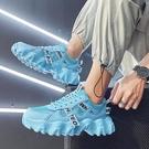 老爹鞋 2021新款老爹ins潮鞋韓版潮流運動休閒內增高百搭男鞋冬季透氣秋 夢藝