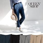 Queen Shop【04030238】百搭素面西裝窄管褲 四色售 S/M*現+預*