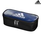 【愛迪達 鉛筆袋】愛迪達 adidas 防潑水 鉛筆袋 鉛筆盒 藍黑 文具 日本正版 該該貝比