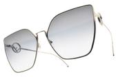 FENDI太陽眼鏡 FF0323S 3YGGB (槍-漸層藍鏡片) 時尚幾何多邊款 # 金橘眼鏡