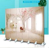 熱賣折疊屏風隔斷玄關客廳臥室3D時尚簡約背景墻男女主播直播QM『艾麗花園』