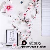 仿真花藤/玉蘭藤條壁掛清雅裝飾花