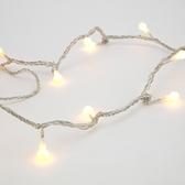 72燈LED圓球跑馬燈 暖白(透明線)