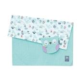 奇哥 PUP 豆趣毯四季禮盒(毛毯+安撫巾)/彌月禮盒 粉綠(附奇哥提袋)