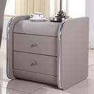 床頭櫃 簡約儲物柜整裝皮床頭柜收納柜歐式床邊小床頭柜TW【快速出貨八折搶購】