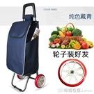 購物車老年買菜拉車便攜家用手推車老人超市車可摺疊拉桿車行李車