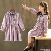 女童連身裙韓版潮小女孩長袖公主裙純棉中大兒童洋氣裙子 『名購居家』