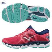 美津濃 MIZUNO 女跑鞋 WAVE SKY 2 (莓紅) 全腳掌波浪片款路跑鞋 J1GD180239【 胖媛的店 】