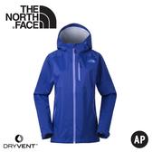【The North Face 女 DryVent防水外套《藍》】3GIM/防水外套/衝鋒衣/防風外套/保暖外套