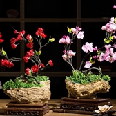 古典梅花仿真花套裝禪意臘梅客廳裝飾花擺件玄關酒櫃餐桌花藝·享家生活館YTL