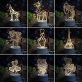 3d立體打印月球月亮小夜燈創意夢幻台燈生日禮物地球床燈插電床頭【販衣小築】
