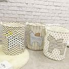 置物籃 洗衣籃 收納 TOOKI & CO【Z432120】北歐風小馬圖案麻布大容量置物籃/洗衣籃/收納筒-Alluring