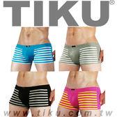 TIKU 梯酷 ~ 條紋派對 棉質透氣平口男內褲_超值4件組 (LC1238+BC1238+GC1238+PC1238)