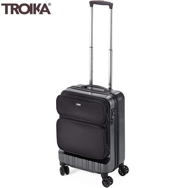 耀您館|德國TROIKA商務18.5吋行李箱LUG02/CB隨身登機箱(飛機輪;TSA海關鎖;智能分類;抗震)手提旅行箱