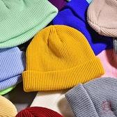 毛線帽薄款韓版針織帽秋冬天男地主帽高街冷帽【櫻田川島】