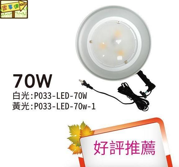 [家事達] 台灣 HS-P033-LED-70W-1 電精靈 夜市LED工作燈-黃色 夜市燈/夜市擺攤