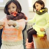 粗針織混色毛線長袖上衣 橘魔法Baby magic 現貨 童裝 女童 厚毛衣 針織毛衣