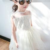 公主氣質蕾絲 背心洋裝 婚禮花童禮服 連身 紗裙 橘魔法Baby magic 現貨 童裝 兒童 小禮服 花童服
