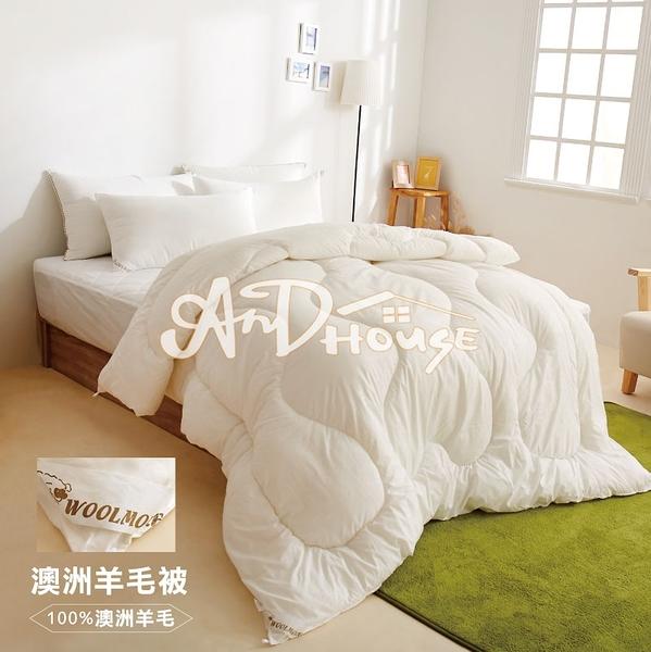[AnD House]澳洲天然保暖發熱羊毛被-單人棉被