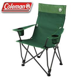 【偉盟公司貨】【65折】丹大戶外【Coleman】CM-0503J 高背紓壓椅(綠) 紓壓椅/高背椅/折疊椅