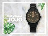 【時間道】NATURALLY JOJO  時尚晶鑽羅馬刻腕錶 / 黑面玫瑰金刻黑鋼(JO96922-88F)免運費