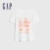 Gap女幼童 Gap x Disney 迪士尼系列純棉短袖T恤 689335-白色