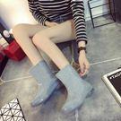 韓國防水雨鞋女成人中筒保暖加絨水鞋女雨靴時尚防滑女式短筒水靴 聖誕節好康熱銷
