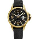 elegantsis JT55A 復古潮流機械腕錶-黑x金框/44mm ELJT55A-NB03LC