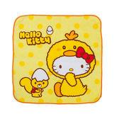《Sanrio》HELLO KITTY變裝小雞系列純棉方巾_RD00559
