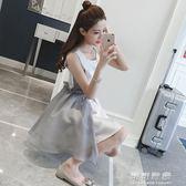 小禮服女春公主裙蓬蓬洋裝韓國時尚收腰顯瘦短裙子 可可鞋櫃