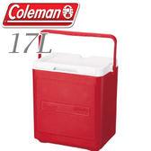 【Coleman 美國 17L 置物型冰桶 紅】行動冰箱/保冷冰箱/拉桿式行動冰箱CM-1321JM000★滿額送