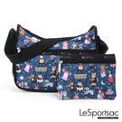 LeSportsac - Standard側背水餃包/流浪包-附化妝包 (面具舞會) 7520P F092