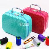 針線盒 便攜式手提套裝韓國居家縫補收納盒縫紉手縫線針線包 卡菲婭