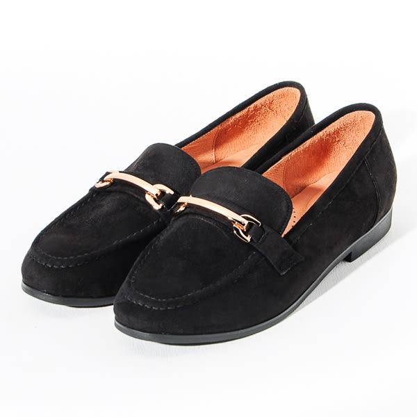 ★新品上市★GREEN PINE 英倫雅痞金屬扣樂福鞋-黑色