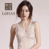 LOHAS 天絲棉外穿型蕾絲長背心(附胸墊)-可可-XL【屈臣氏】