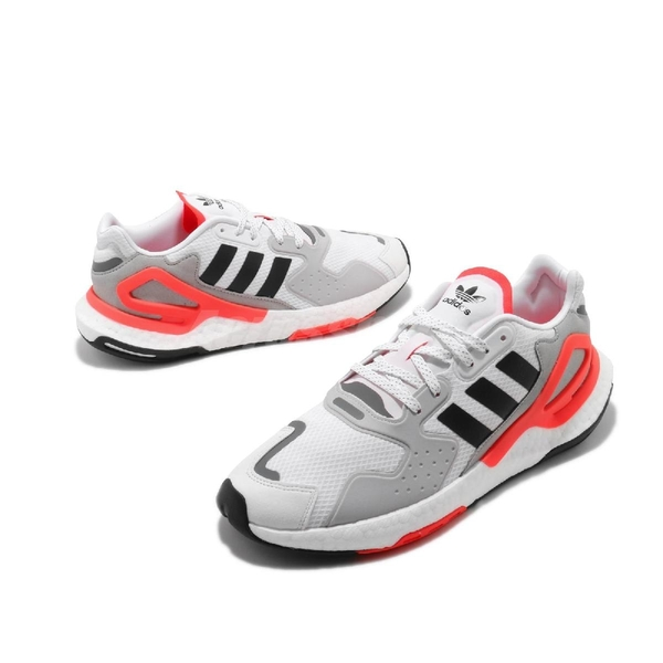 adidas 休閒鞋 Day Jogger 白 橘 男鞋 Boost 中底 網布鞋面 運動鞋 【ACS】 FY0237
