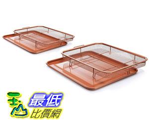 [8美國直購] 保鮮盒拖盤 GOTHAM STEEL Crisper Tray Set - Regular-sized and Large-sized B072JZBCBY