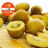 【預購】將豪農產-台灣本產黃肉奇異果10顆x1盒(每顆50g/顆)