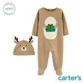 【美國 carter s】聖誕麋鹿連身裝(附帽)-台灣總代理