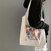 帆布包-女兒國國王的店帆布包女單肩韓版原宿ulzzang軟妹可愛學生布包袋 Korea時尚記